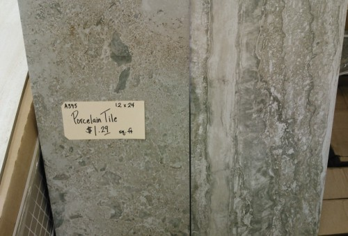 Trendy 12″ X 24″ tile, $1.19 a square foot