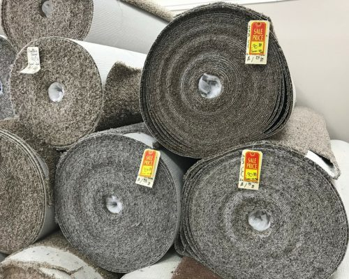 Frieze Carpet with Pad 90¢/sq ft.